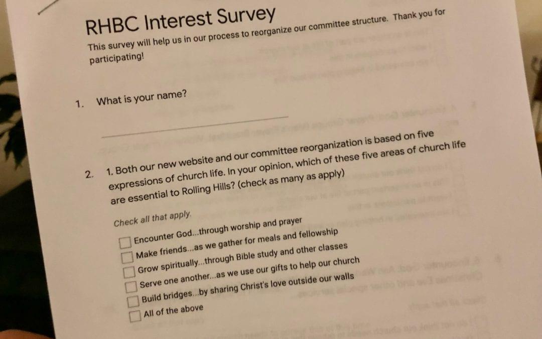 RHBC Interest Survey now available!